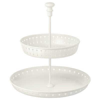 4xIKEA GARNERA Tableware Serveware Serving dish stand two tiers white