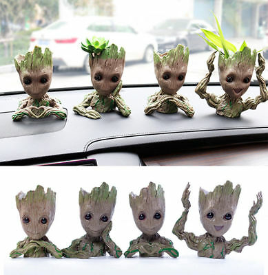 4Pcs Flower Pot Guardians of The Galaxy Baby Groot planter Tree Man Kid Gift New