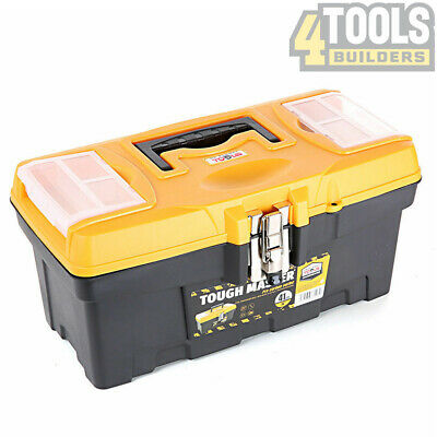 Tough Master Tool Storage Box 16 inch / 41cm With Tray & Compartment Organiser