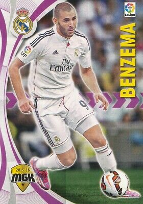 344 Karim Benzema # France Real Madrid Card Mgk Liga 2016 Panini