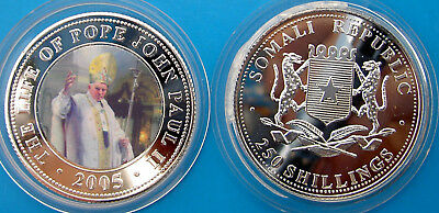 Somali Republic 250 Shillings 2005 The Life Of Pope John Paul Ii (9)
