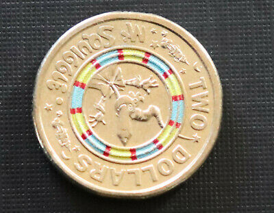 2019 $2  Coin 60th Anniversary of Mr Squiggle Coloured~free post