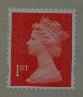 100 x 1ST FIRST CLASS RED UNFRANKED SECURITY STAMPS - GUMMED - PEEL and STICK.