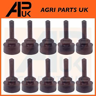 10 x Ford 7600 7610 7700 7710 7810 Tractor Bonnet Panel Rubber Pad Grommet Bung