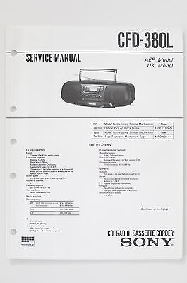 Sony CFD-380L Original Service Manual/Instructions/Wiring Diagram+Supplement 1!