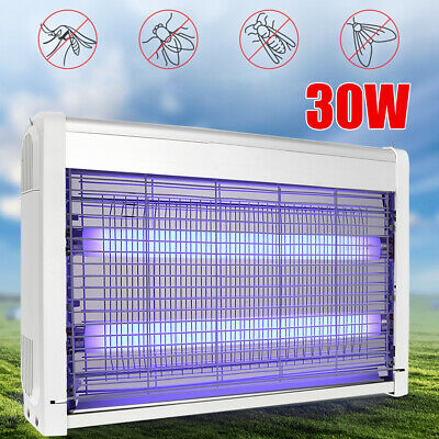 30W LED Electric UV Insect Killer Mosquito Fly Pest Bug Zapper Catcher Trap Lamp