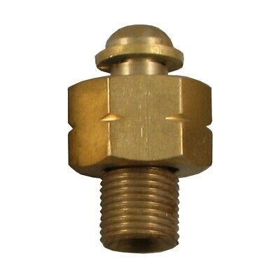 Brass BSP straight hose adaptors converts 1/4 female hose to fit 3/8 male torch