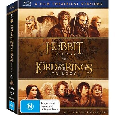 Middle Earth Collection Blu-ray Box Set - Lord of the Rings & Hobbit Trilogy NEW