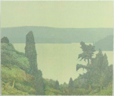 Russell Chatham original lithograph Puget Sound, signed/numbered/dated