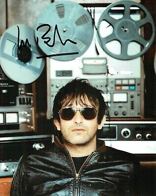 Ian BROUDIE The Lightning Seeds SIGNED Autograph 10x8 Photo 2 AFTAL COA 3 Lions