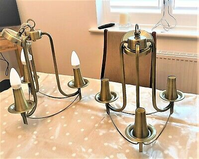 Modern Chrome / Traditional Antique Brass 3 Way Ceiling Light Fitting Chandelier