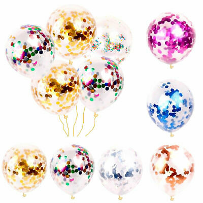 10/20 Pcs Confetti Latex Filled Helium Balloon Birthday Party Wedding Decor 12 ""