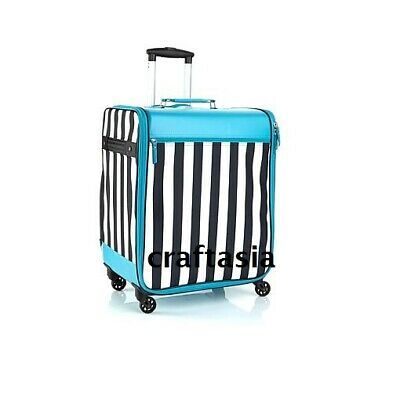 Debbee Flip 'N Pack Expandable Rolling Craft Storage Case Teal Brand New NWT