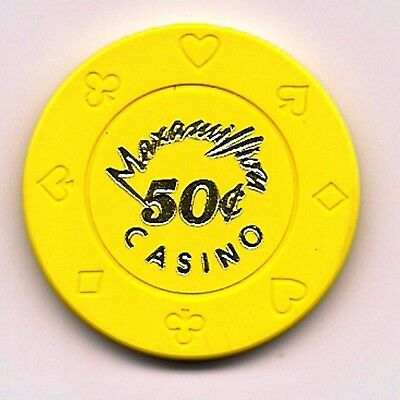 """50c"" Casino Chip MAXAMILLION Obsolete Yellow Cruise Wet Nice Ship"