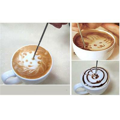Coffee Latte Decorating Art Pen Needle Stainless Steel Kitchen Cafe Tool SH
