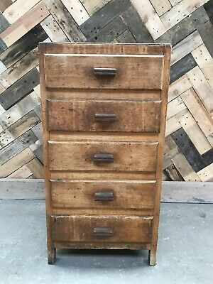 Vintage Rutic Chest Of 5 Drawers