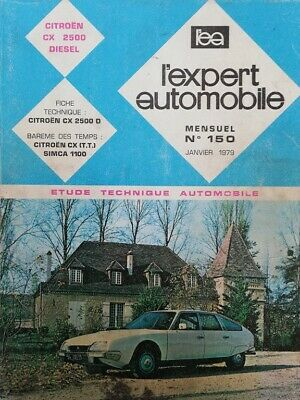 Revue technique CITROEN CX 2500 D RTA EXPERT n° 150 1979