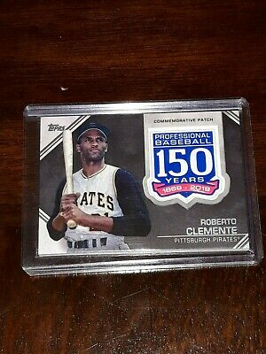 2019 Topps 150th Anniversary Manufactured Patches #AMPRC Roberto Clemente