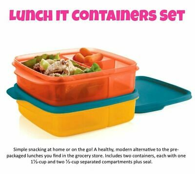 NEW Tupperware Divided Lunch-It Dish Lunch Containers - Set of 4
