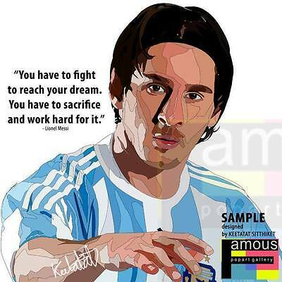 Lionel Messi canvas Quotes wall decals photo painting Framed POP ART poster #0