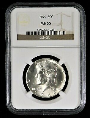 1966 Kennedy Half Dollar - NGC MS65 !! No Reserve !!