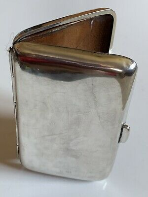 Heavy WW1 Art Deco Solid Silver Calling Card Case Birmingham 1918 48.4g