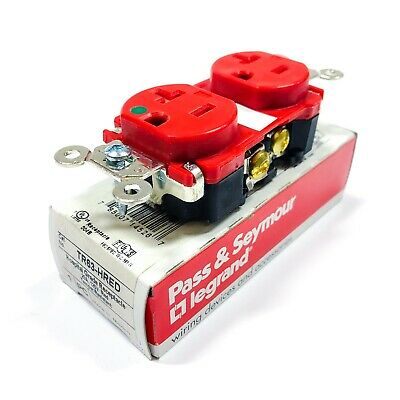 TR63-HRED Pass & Seymour Hospital Grade Receptacle 20A, 125V, RED
