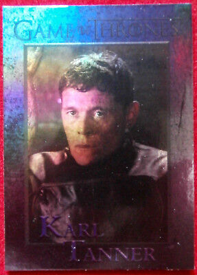 GAME OF THRONES - KARL TANNER - Season 4 - FOIL PARALLEL Card #92