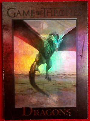 GAME OF THRONES - DRAGONS - Season 4 - FOIL PARALLEL Card #58