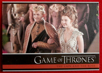 GAME OF THRONES - Season 4 - Card #05 - THE LION AND THE ROSE - Rittenhouse 2015