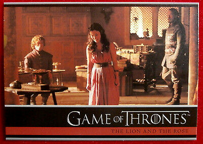 GAME OF THRONES - Season 4 - Card #04 - THE LION AND THE ROSE - Rittenhouse 2015