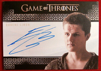 GAME OF THRONES - EUGENE SIMON, Lancel Lannister - AUTOGRAPH Card - 2017