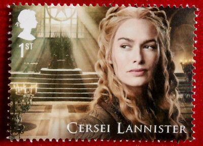 GAME OF THRONES - Cersei Lannister - FIRST CLASS STAMP - MINT - Royal Mail