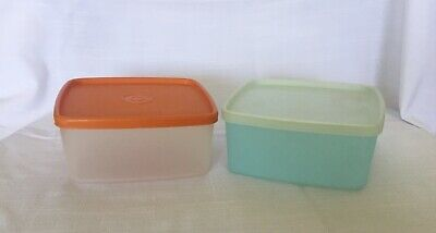 Lot of 2 Vintage Tupperware Square Rounds. Good Condition