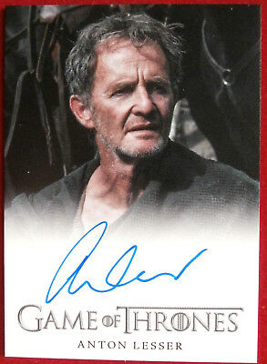 GAME OF THRONES - ANTON LESSER, Qyburn - AUTOGRAPH Card - Rittenhouse 2013