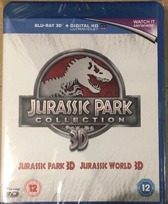 Jurassic Park 3D + Jurassic World 3D Double pack Blu-ray New & Sealed