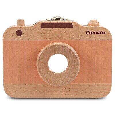 Children Wooden Camera Shape Deciduous Tooth Storage Box Organizer