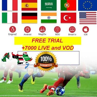 3 MONTH'S IPTV Subscription 7000 HD channels + VOD MAG, Android, SmartTV, M3U