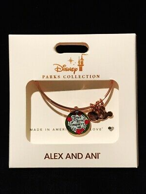 Disney Alex & And Ani Sleeping Beauty Aurora True Love Rose Gold Bangle Bracelet