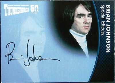THUNDERBIRDS 50 YEARS - Brian Johnson (OSCAR WINNING SFX) - Autograph Card