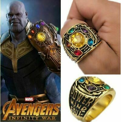 Marvel Universe Infinity Gauntlet Thanos Avengers Stones War GOTG Rings Cosplay