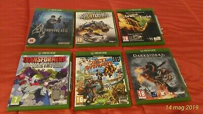 Lotto Stock Giochi Xbox One Resident Darksiders Flatout Transformers Town Sunset