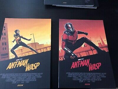 2 Posters - Ant Man and the Wasp Odeon A4 poster - Marvel (2018)