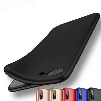 For iPhone 6 8 7 Plus XS MAX XR Shockproof Bumper Soft Silicone Phone Case Cover