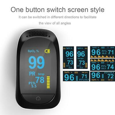 Finger Type Pulse Oxygen Oximeter Heart Rate Monitor Blood Pressure Meter Health