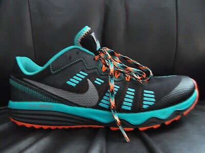 online store 143a7 21f8c Nike Dual Fusion Trail 2 Black Orange And Turquoise Trainers Mens Size 7