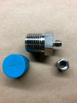 """Swagelok SS-200-1-8, 1/8"""" x 1/2"""" Male Connector, Tube, 316 Stainless"""