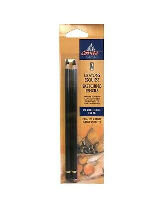 Conte A Paris 2 Sketching Pencils Pierre Noire HB-2B Free Shipping
