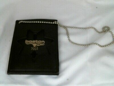 Boston Leather Neck Chain Badge/ ID holder 450-000