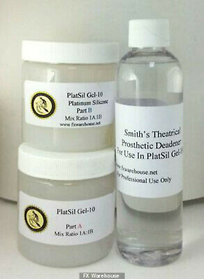 Platsil Gel 10 Trial Kit 4oz includes Deadner Siilicone SPFX Special FX Makeup